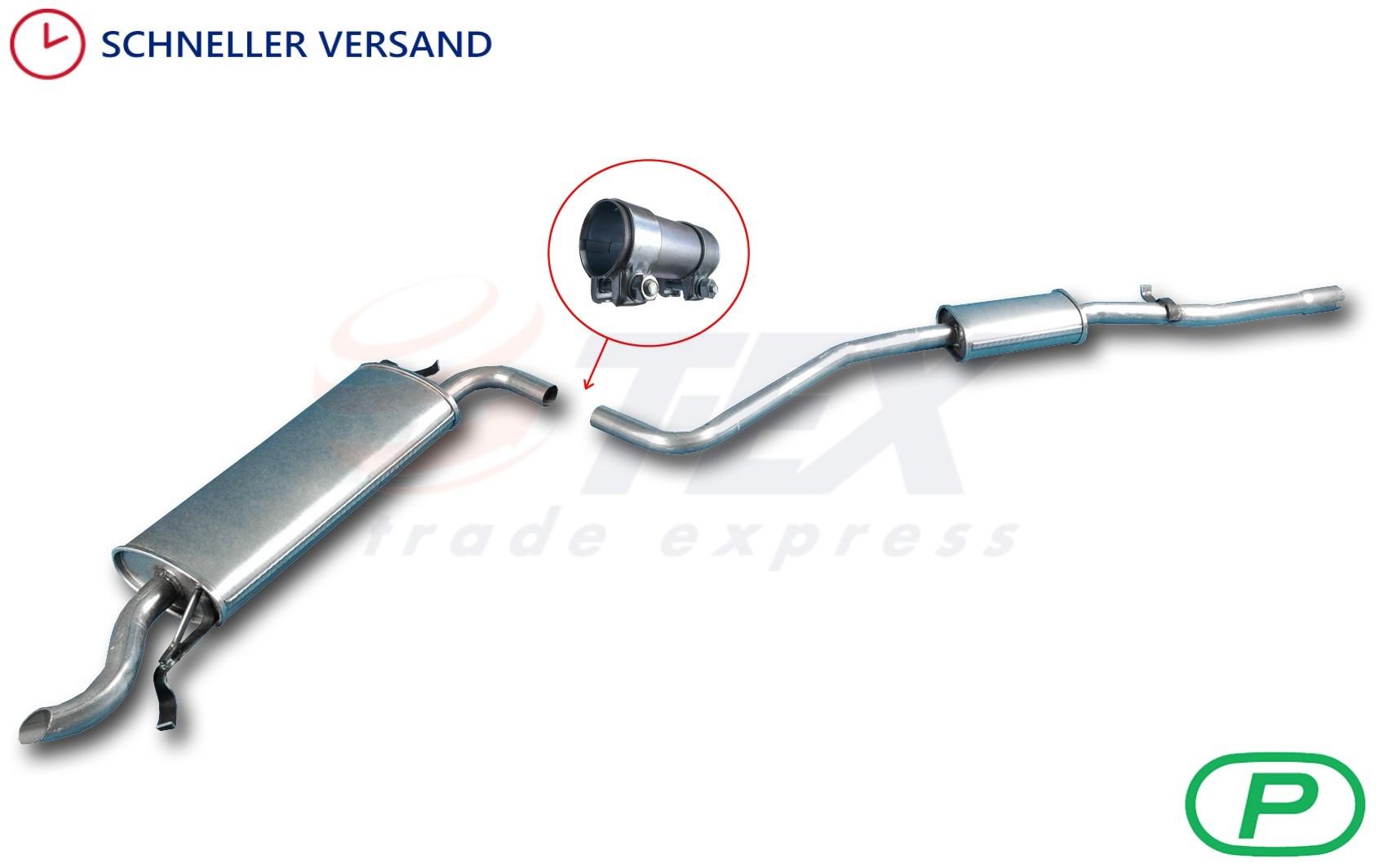 Komplette Auspuffanlage Montagesatz FIAT SEICENTO 1.1 Fließheck Auspuff