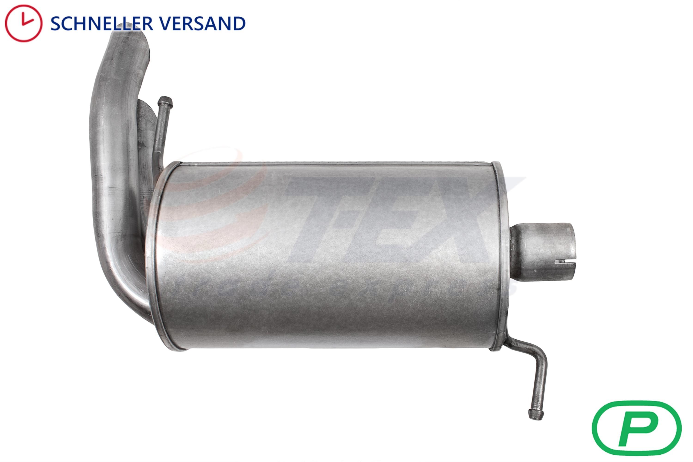 Anbausatz Endschalldämpfer VW Sharan 1.9 Tdi Diesel Auspuff Endtopf 1995-2000